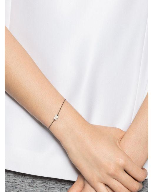 BaubleBar | Metallic Pavé Dog Tag Bracelet | Lyst