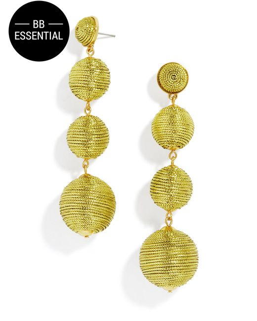 BaubleBar | Criselda Ball Drop Earrings-metallic Gold | Lyst