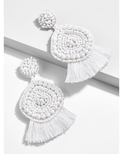 BaubleBar - White Mietta Drop Earrings - Lyst
