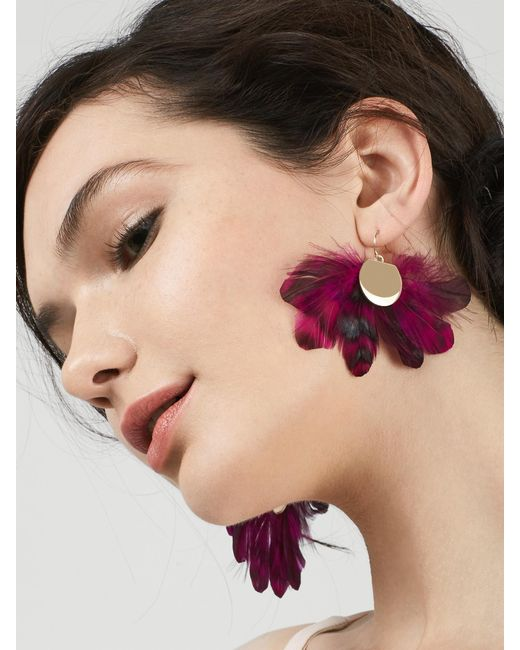 BaubleBar | Purple Monarch Feather Earrings | Lyst