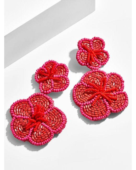 BaubleBar - Red Rosa Flower Drop Earrings - Lyst