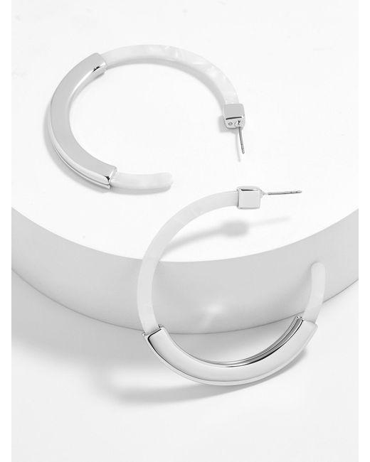 BaubleBar - Metallic Tassiana Resin Hoop Earrings - Lyst