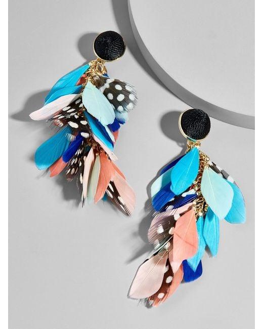 BaubleBar | Multicolor Mottled Feather Earrings | Lyst