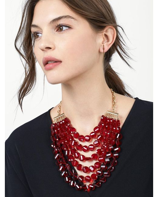 BaubleBar | Red Noel Statement Necklace | Lyst