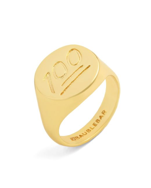 BaubleBar | Metallic One Hundred Points Ring | Lyst