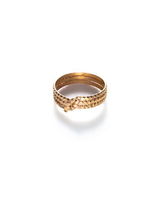 Baukjen - Metallic By Boe Knotted Scalloped Ring - Lyst