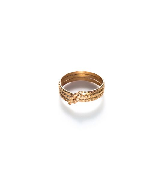Baukjen - Metallic By Boe Knotted Scalloped Midi Ring - Lyst