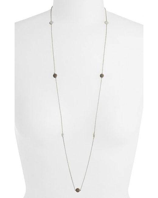 Judith Jack | Metallic Long Station Necklace | Lyst