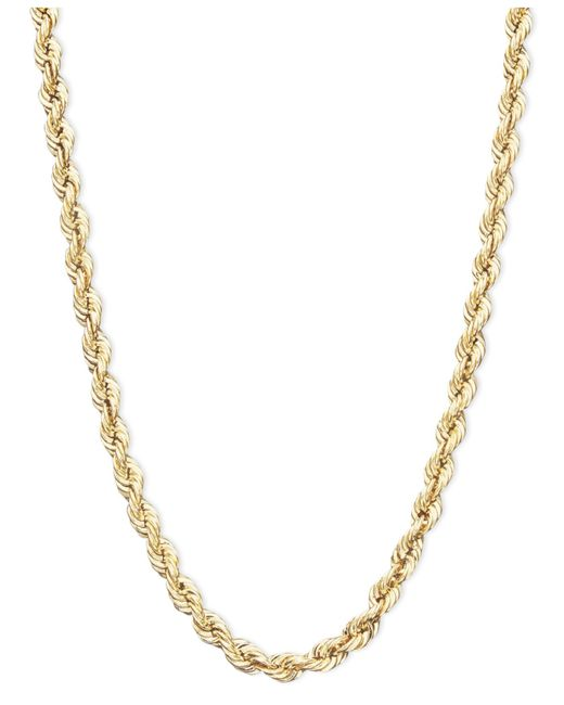 Macy's | Metallic Rope Chain Necklace In 14k Gold | Lyst