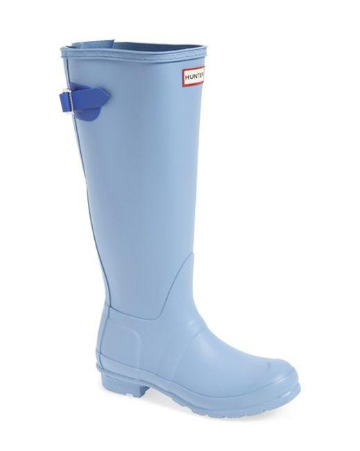 Hunter | Black Adjustable Calf Rain Boot | Lyst