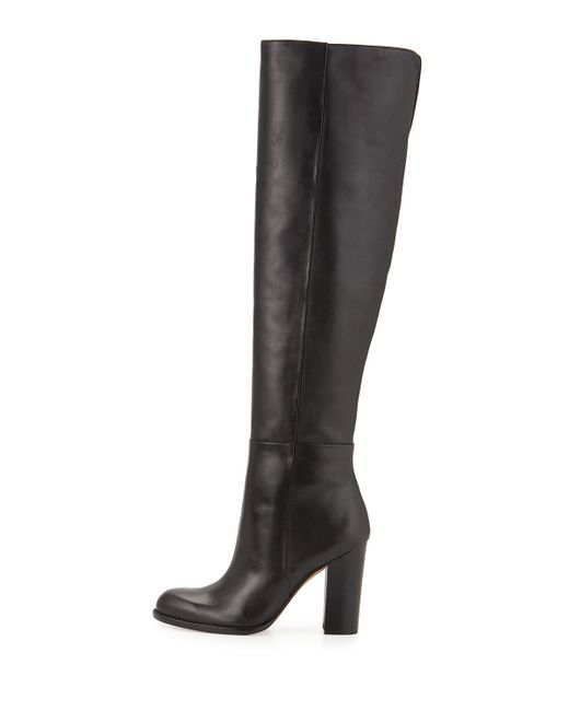 Sam Edelman | Black Rylan Leather Knee-high Boots | Lyst