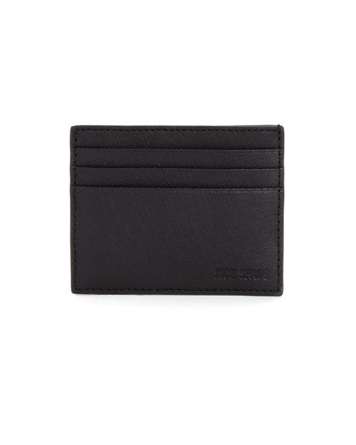 Jack Spade | Black Barrow Leather Card Case for Men | Lyst