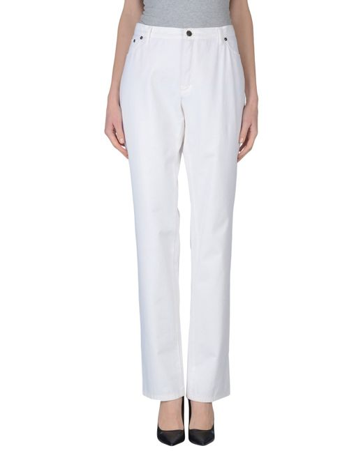 Burberry | White Casual Trouser | Lyst