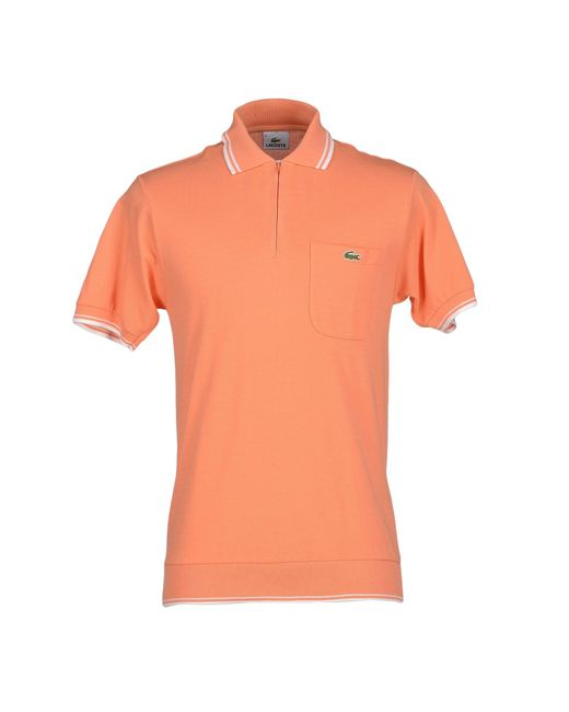 Lacoste Polo Shirt In Orange For Men Salmon Pink Lyst