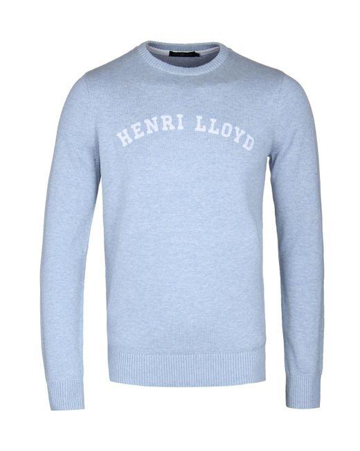 Henri Lloyd - Gell Regular Powder Blue Crew Neck Knitted Sweater for Men - Lyst