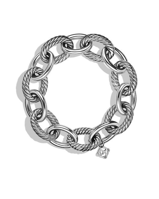 David Yurman | Metallic Extra-large Oval Link Bracelet | Lyst