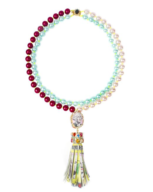 Bijoux De Famille | Multicolor Funky Dollar Tassel Necklace | Lyst
