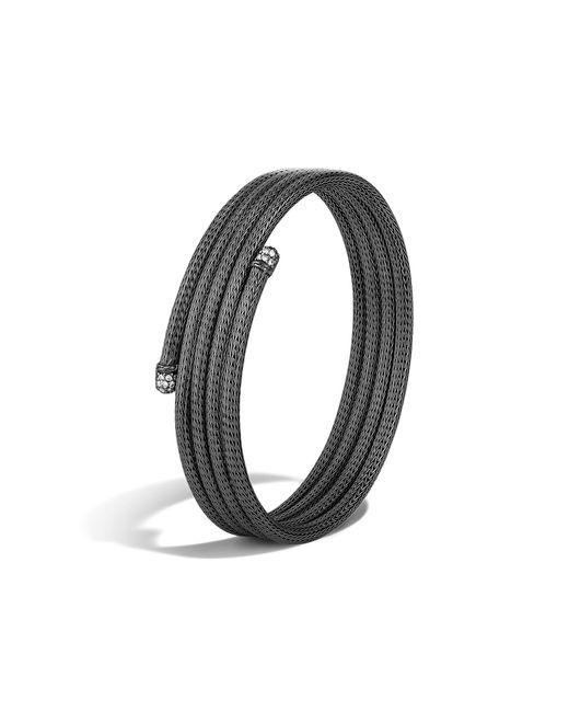 John Hardy | Black Classic Chain Four Coil Bracelet With Diamonds | Lyst