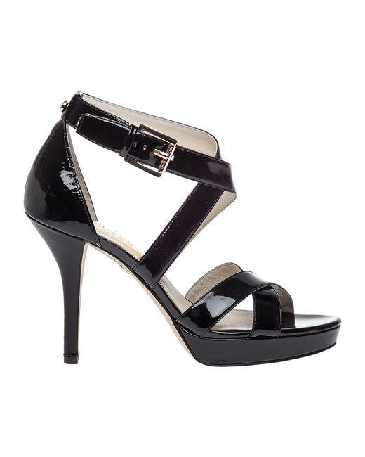 MICHAEL Michael Kors | Black Evie Platform Sandals | Lyst