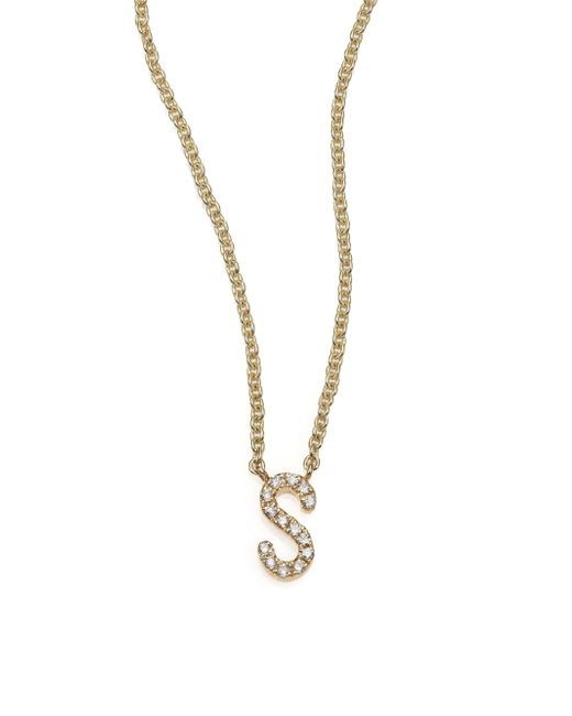 Sydney Evan | Diamond & 14k Yellow Gold Initial Necklace | Lyst