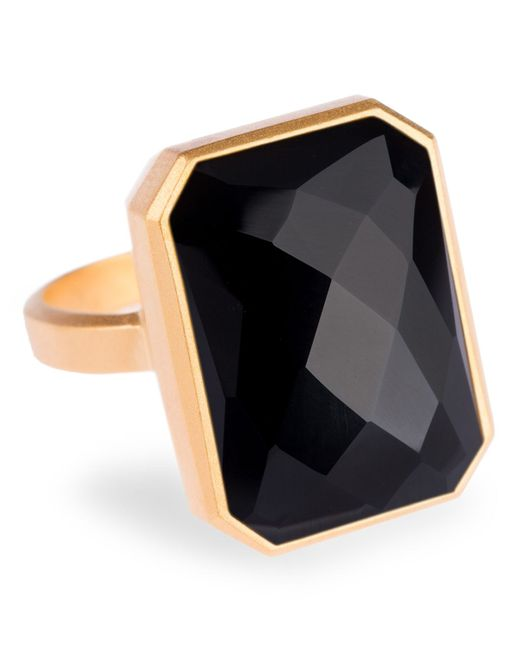 Ringly | Metallic Aries Activity Tracker Smart Ring In Onyx | Lyst