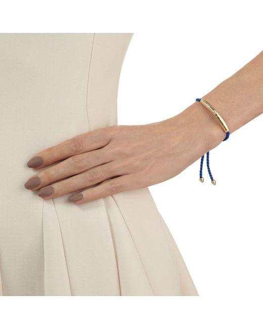 Monica Vinader | Metallic Havana 18 Carat Gold Plated Vermeil Friendship Bracelet | Lyst