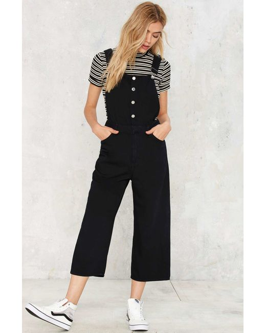 Cheap monday Later Denim Overalls in Black - Save 20% | Lyst