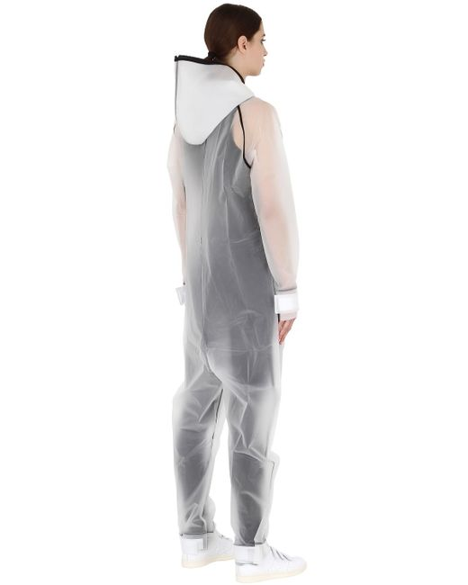 Onepiece Waterproof Rain Jumpsuit In Transparent Lyst