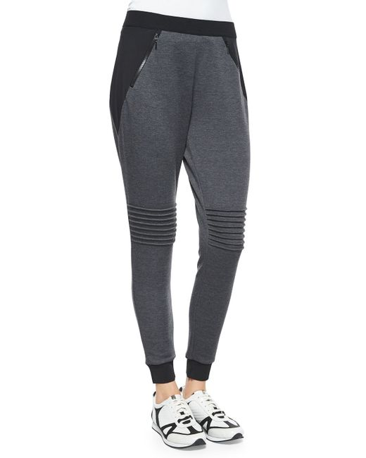 Elie Tahari | Gray Eve Color-Blocked Sweatpants | Lyst