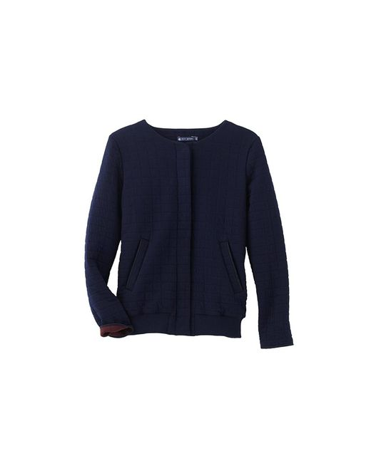 Petit Bateau | Black Women's Padded Tube Knit Jacket | Lyst