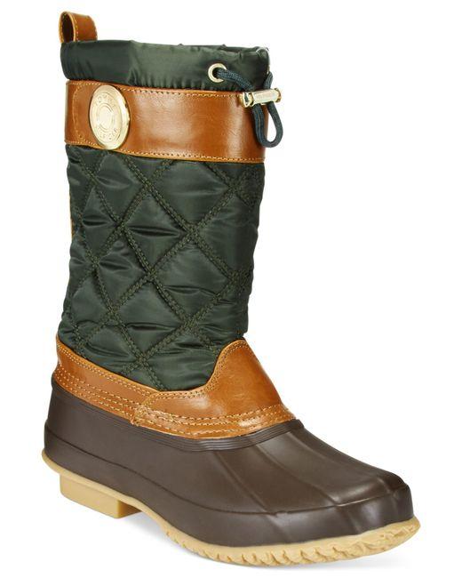 Perfect  FEW22 Women39s Fashion PullOn Faux Waterproof Lace Up Duck Boots 4