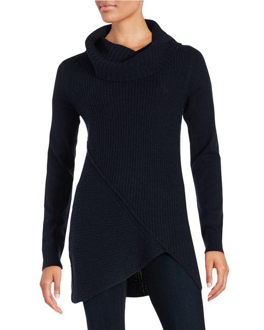 T Tahari   Blue Cowlneck Sweater   Lyst