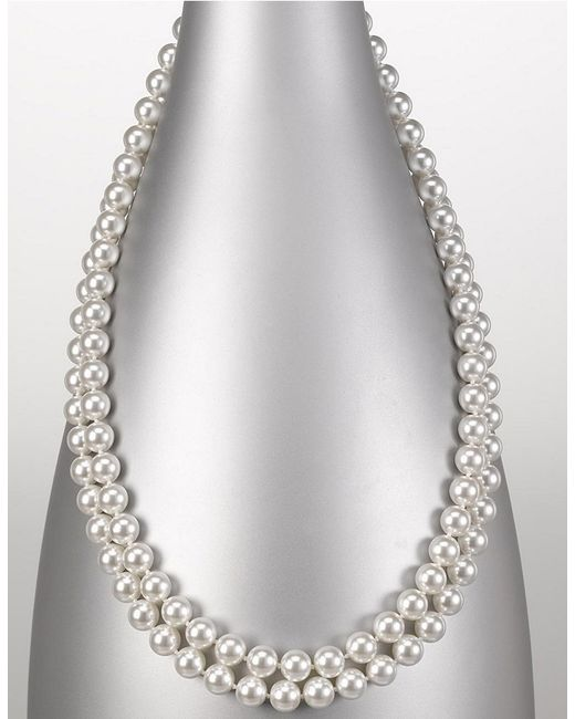 Majorica | 8mm White Pearl Endless Strand Necklace/60 | Lyst