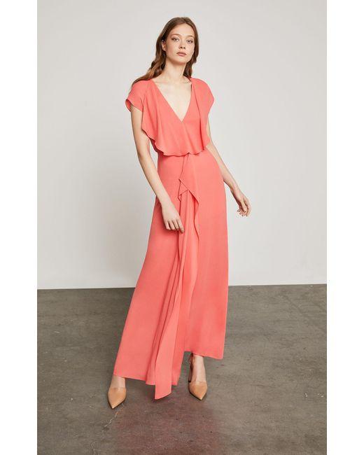 BCBGMAXAZRIA - Pink Bcbg Evette Front Drape Dress - Lyst