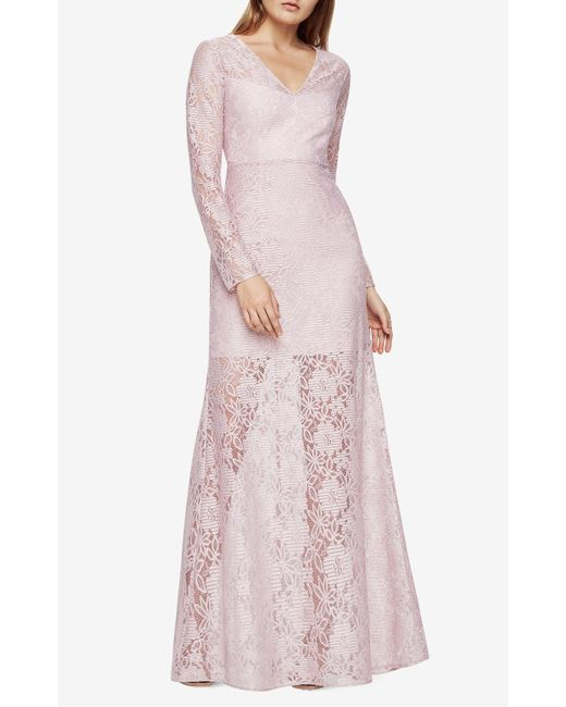 BCBGMAXAZRIA | Pink Daysha Lace Gown | Lyst
