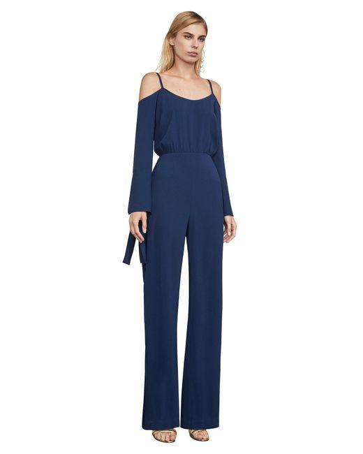 BCBGMAXAZRIA - Blue Bcbg Jordane Cold-shoulder Jumpsuit - Lyst