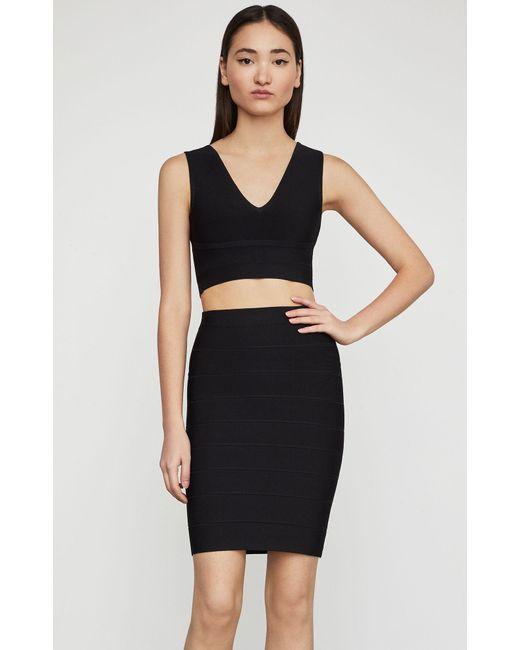BCBGMAXAZRIA - Black Bcbg Alexa Sweater Skirt - Lyst
