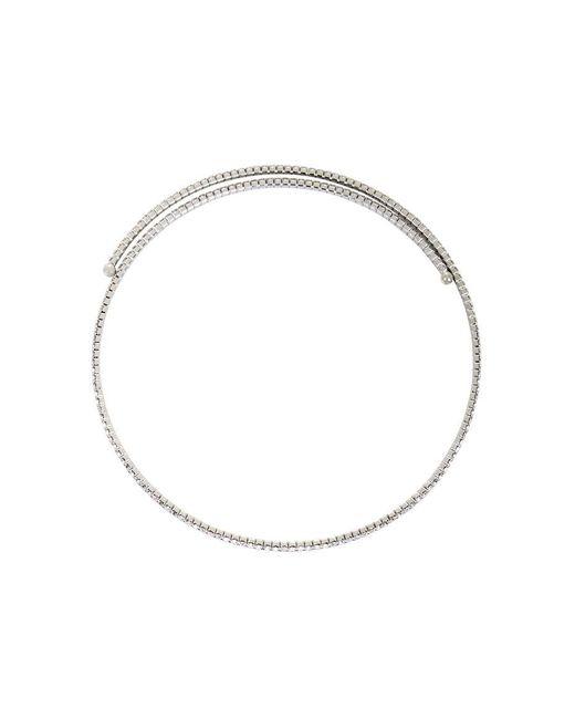 BCBGMAXAZRIA - Metallic Pave Choker Necklace - Lyst