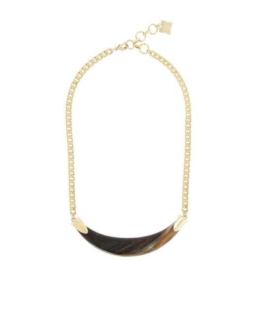 BCBGMAXAZRIA | Metallic Faux Horn Necklace | Lyst