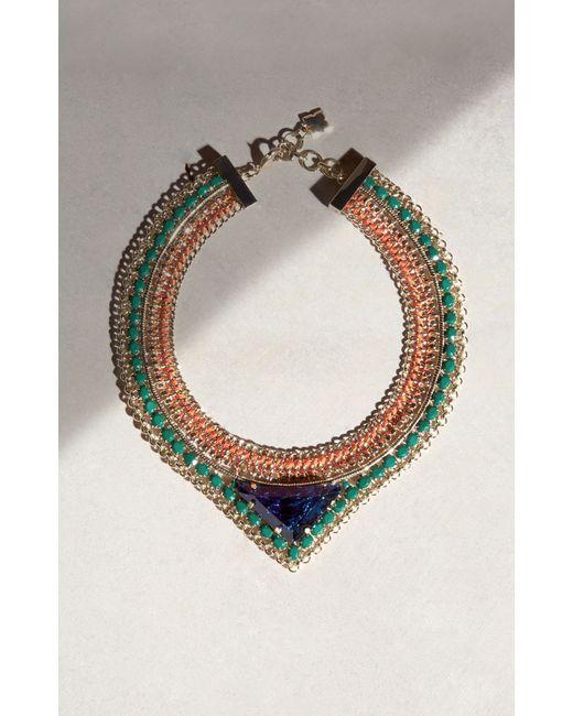 BCBGMAXAZRIA - Multicolor Stone Necklace - Lyst
