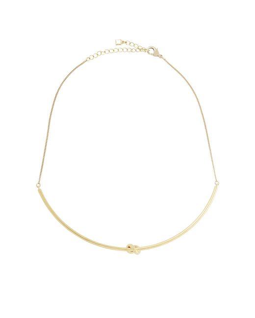 BCBGMAXAZRIA   Metallic Single-knot Necklace   Lyst