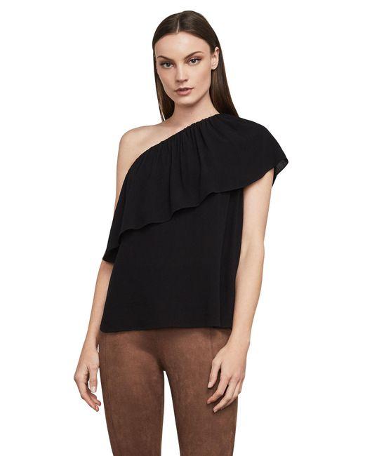 BCBGMAXAZRIA - Black Bcbg Kamila One-shoulder Top - Lyst