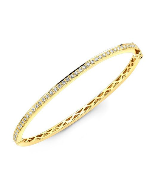 Anne Sisteron | 14kt Yellow Gold Diamond Bangle | Lyst