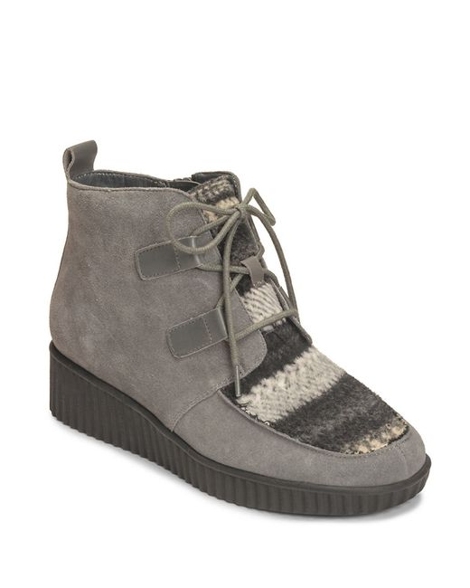 Aerosoles | Gray Umpire Suede Ankle Booties | Lyst