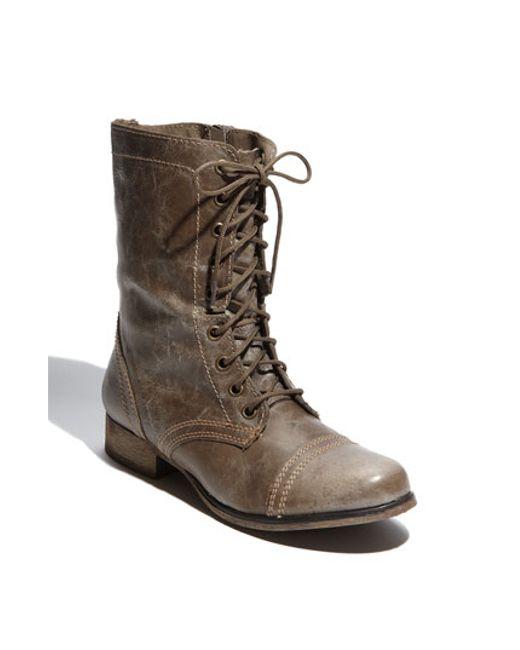 Steve Madden   Gray 'troopa' Boot   Lyst