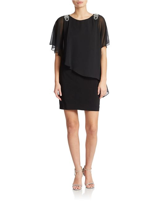 Xscape | Black Asymmetrical Shift Dress | Lyst