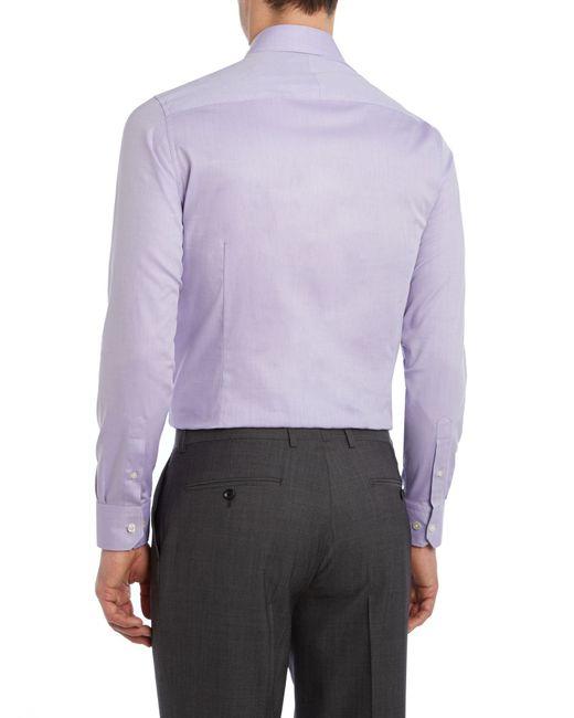 Howick | Purple Charter Slim Fit Twill Shirt for Men | Lyst