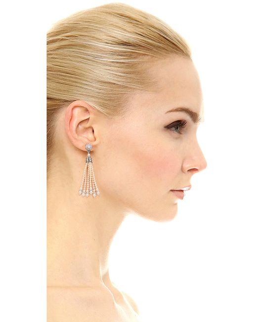 Ben-Amun   Metallic Imitation Pearl Tassel Earrings   Lyst