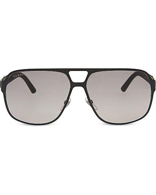 36bed7faa2ea8 Women s Gucci Aviator Sunglasses Black