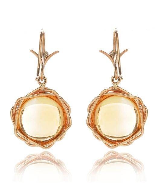 Dean Harris | Yellow Citrine Lintel Earrings | Lyst